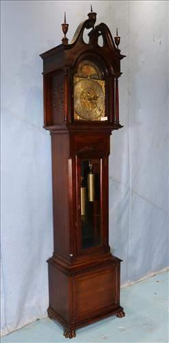 R.J. Horner mahogany grandfather clock