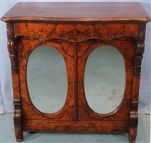 Rosewood 2 door Victorian parlor cabinet