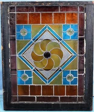 Stained glass window, 24 x 29