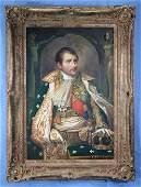 Contemporary oil on canvas of Napoleon