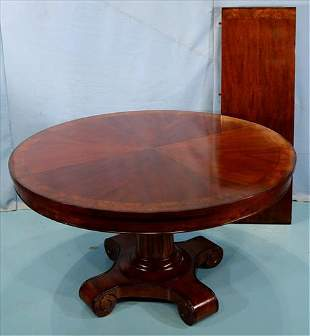 Mahogany dining room table with veneer