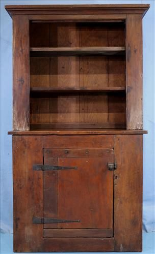 Primitive Southern pine cabinet, pegged together
