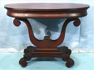 Mahogany oval empire library table