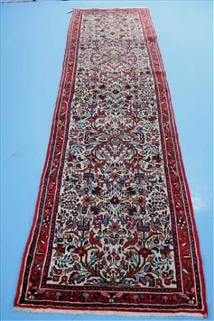 Hand made Persian hall runner, 2.7 x 10.3