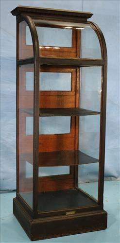 Old oak upright storage display case