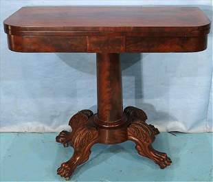 Flamed mahogany Federal game table