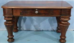 Rosewood Empire library table with drawer