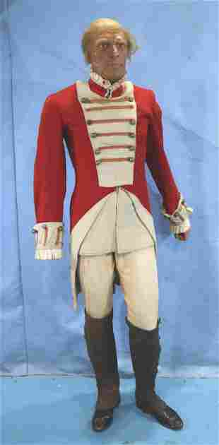 Life size wax figure of a revolutionary  soldier
