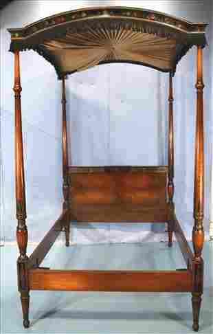 Mahogany canopy bed with original canopy