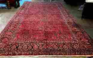 Antique palace size sarouk hand made rug