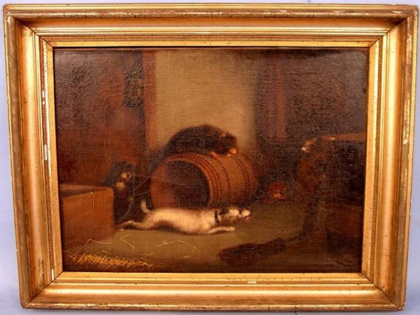 007: George Armfield, Brit. (1808- 1898), Dog Painting