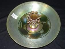 293: Tiffany Favrile Iridescent Art Glass Center Bowl
