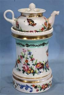 Antebellum porcelain Encrier (tea warmer).