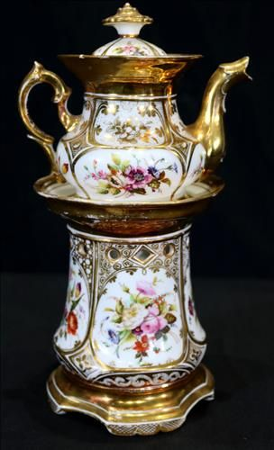 Early Old Paris tea for one, 10 in. T.