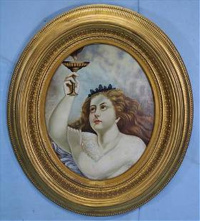 Large 19th Century oil on canvas of Liberty