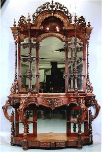 Rosewood rococo etagere attrib. to T. Brooks