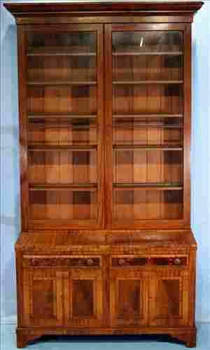 Mahogany Victorian extremely Lg. secretary bookcase