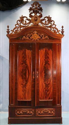Mahogany Victorian extra tall 2 door wardrobe