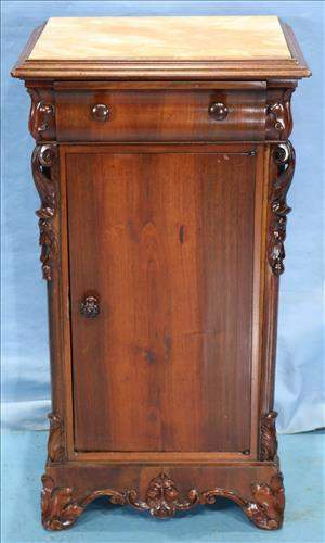 Oversize rosewood rococo Victorian bedside stand