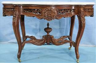 Rosewood rococo parlor table atttrib. to Meeks