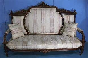 Rosewood Victorian large parlor sofa by Brooks