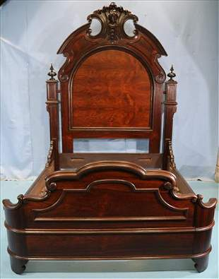 Rosewood high back Victorian bed