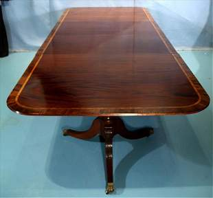 Mahogany banded Sheraton style banquet table