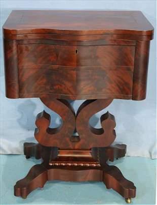 Flame mahogany empire work table