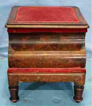 Brazilian Burl walnut potty and step stool