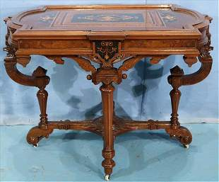 Rosewood aesthetic movement parlor table