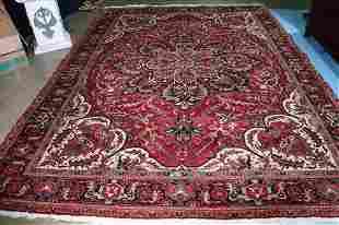 Heriz handmade Persian rug, 9.8 x 13.4
