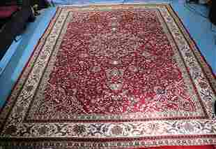 Lg. Persian hand knotted wool rug, 11 ft. 7 in. x 8 ft.