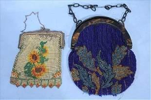 2 beaded Victorian purses