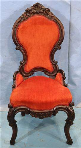 Rococo side parlor chair
