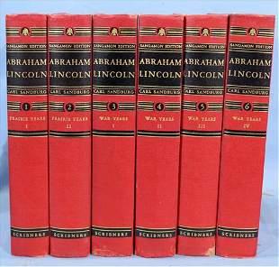 Set of 6 Volume books on Abraham Lincoln