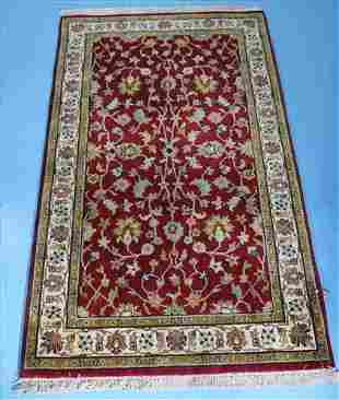 Antique Persian rug, red, gold and white, 5 Ft. x 3 ft.