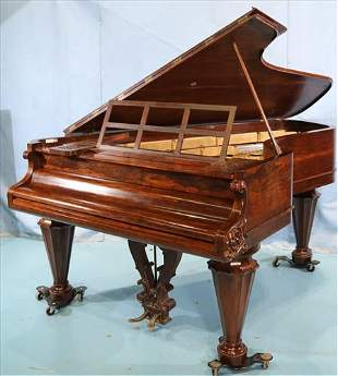 Rosewood Chickering parlor grand piano