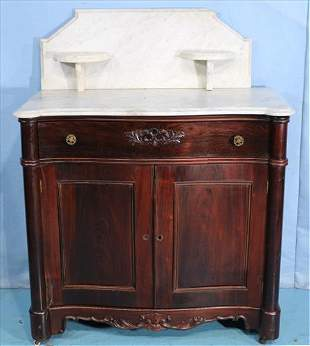 Rosewood Victorian marble top washstand