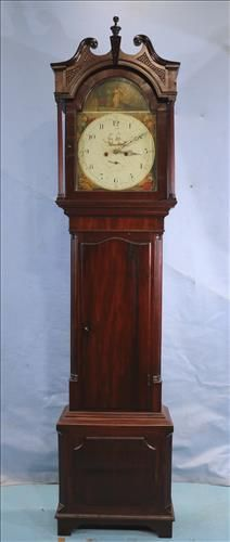 Mahogany case Chippendale 8 day clock