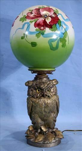 Craighad and Kintz owl lamp