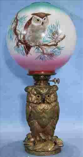 Craighead and Kintz owl lamp