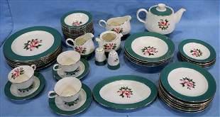 52 pc. set of empire green Homer Laughlin china