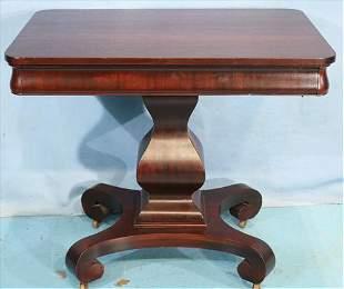 Mahogany Empire console table with pumpkin base