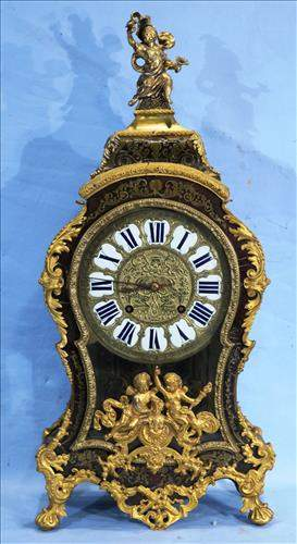 Large French Boulle bracket clock with figures