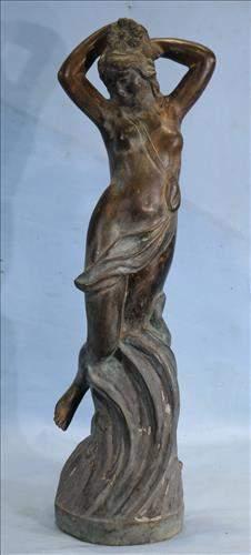 Very old bronze goddest statue