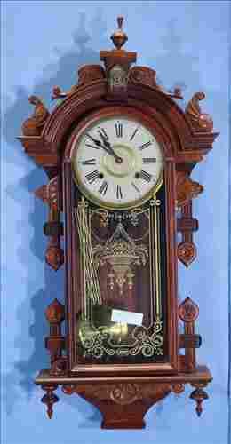 Victorian style regulator wall clock, 36 in. T.