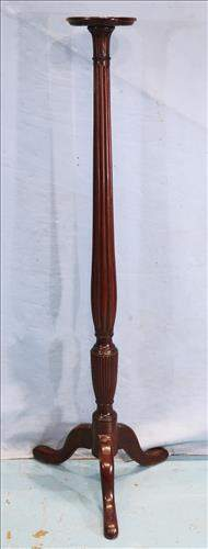 Tall mahogany pedestal with reeded column
