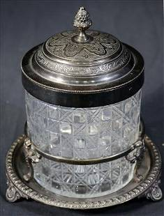 Victorian silver-plate humidor