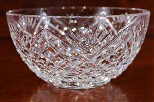 Waterford leaded crystal bowl, 4 in. T, 8 in. Dia.