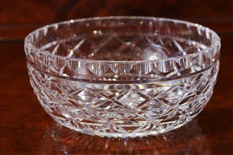 Waterford leaded crystal bowl, 3.5 in. T, 8.5 in. Dia.